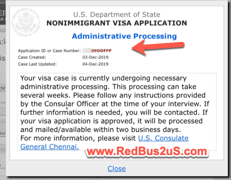221g Administrative Processing Status CEAC Website