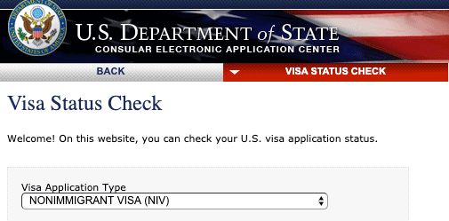 CEAC Website US Visa Status Check