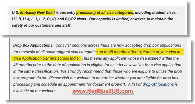 Dropbox US Visa 48 months - Embassy March 2021