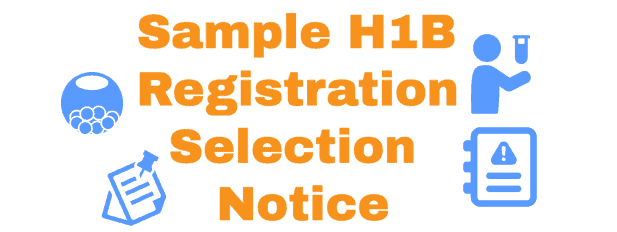 H1B Registration Notice Sample Info