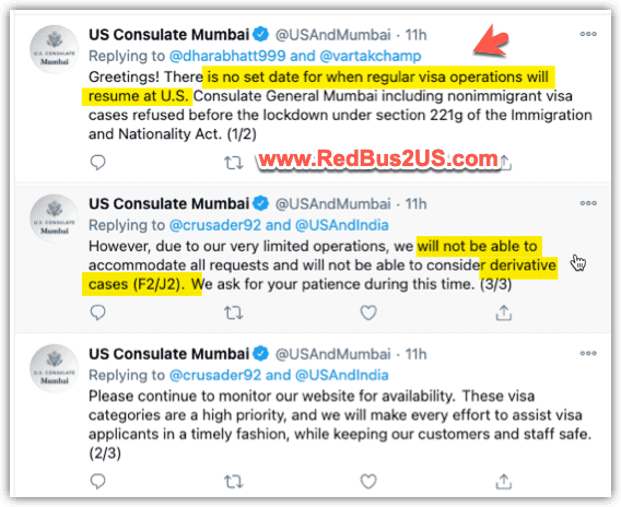 US Consulate Visa Appointment Updates December 22-2020