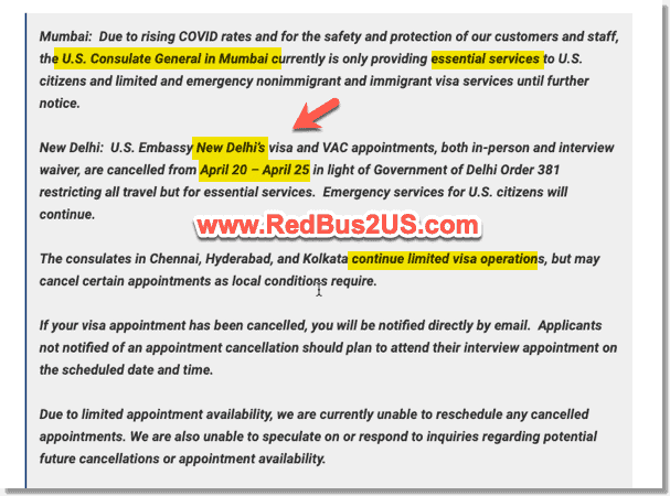 US Embassy in Delhi Closed due to Curfew April 20 to 25th 2021