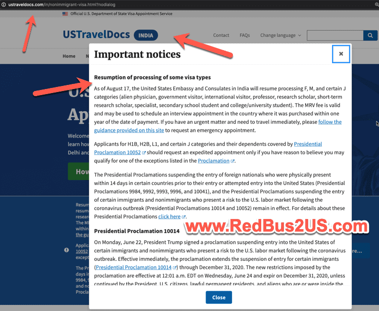 US Travel Docs Website Update August 2020