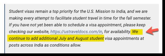 US Visa Stamping status f1 update June 28-2021