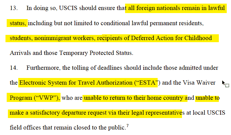 Judgement for Visa Waiver Program and All Non-immigrants