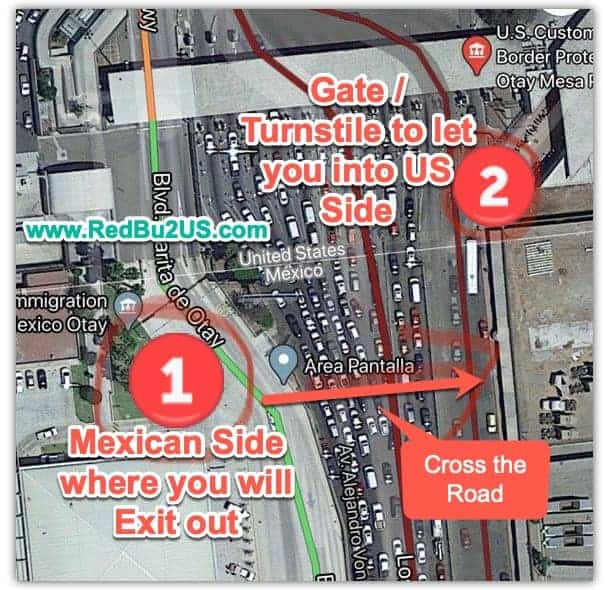 US Mexico Border - How to enter US side gate