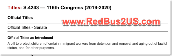 S4243 Bill by Senator Durbin to Protect Immigrant Children
