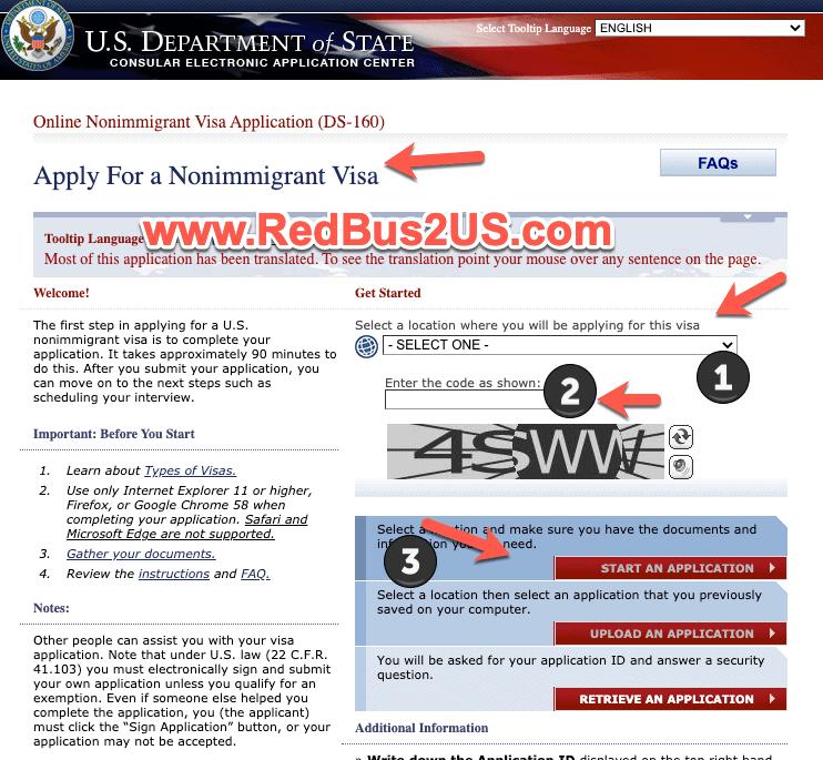 Apply for US Visa - Fill DS-160 Form Online Info