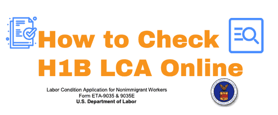 How to find H1B LCA online - Options to check
