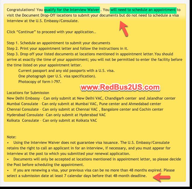 US Visa Stamping - Interview Waiver or Dropbox Confirmation on USTravelDocs Website - 2021