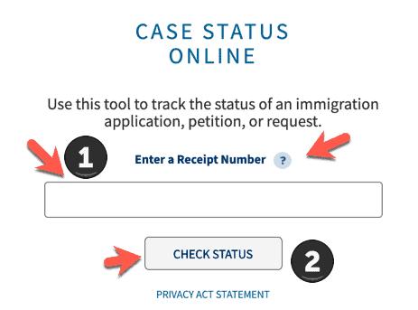 USCIS Case Status Check online Form
