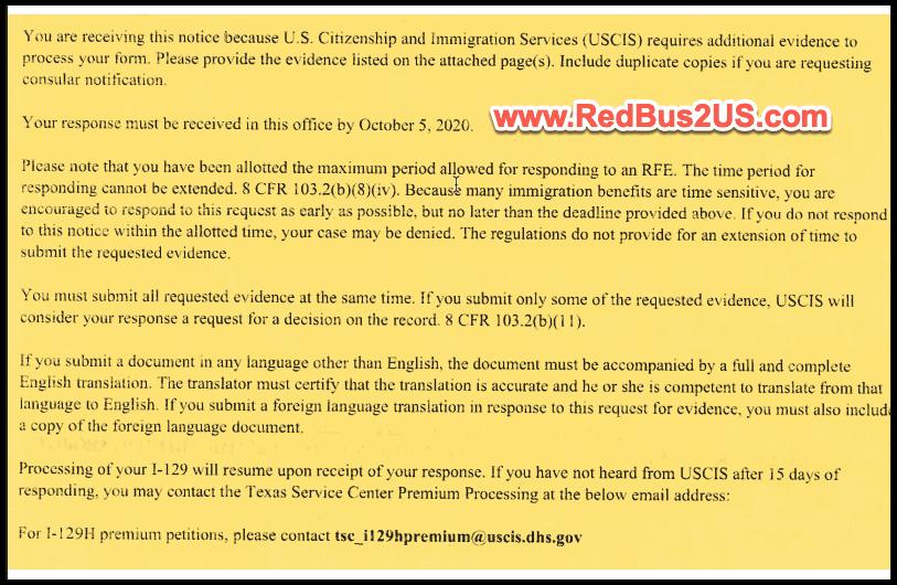 USCIS H1B RFE 2021 - Page 1