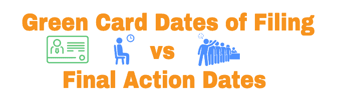 Green Card Final Action Dates vs Dates of Filing Differences