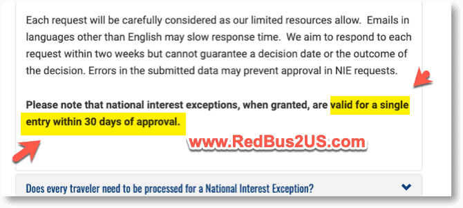 NIE Guidance to travel within 30 days from US Embassy india