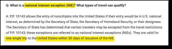 NIE Rule Germany US Embassy 30 days Rule