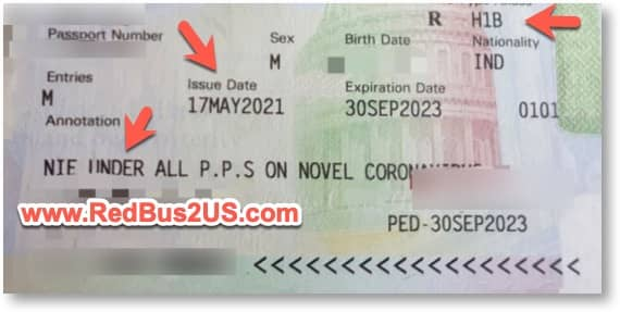 NIE Stamp on Passport - India Travel Ban