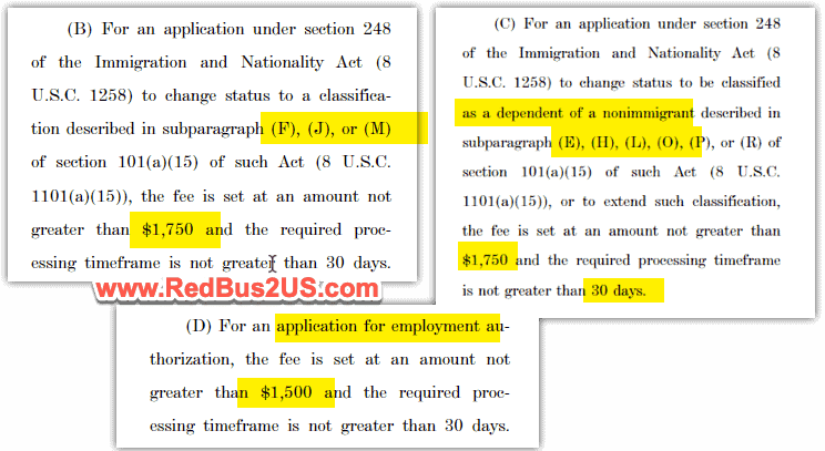 USCIS Fee for H4 L2 EAD Changes 1750 and 1500 Fee