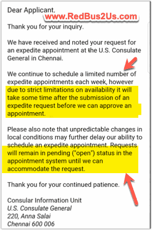 Emergency Appointment Request Wait Listed Email