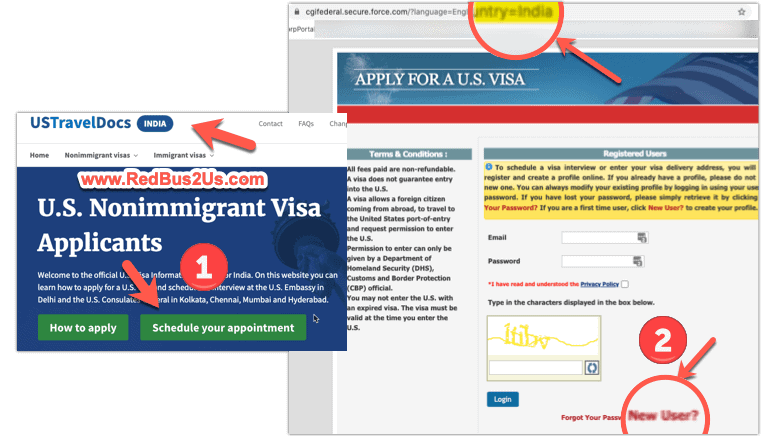 Schedule US Visa Appointment India Website Link