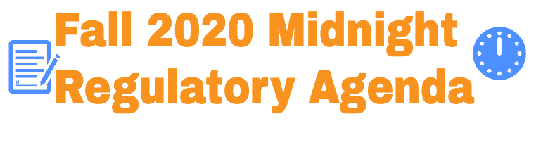 Fall 2020 Midnight Regulatory Agenda Info for H1B H4 EAD