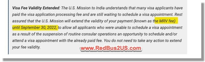 MRV Fee extended until Sep 30, 2022