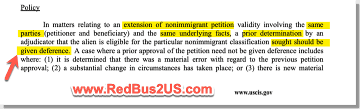 Deference Policy from 2004 USCIS