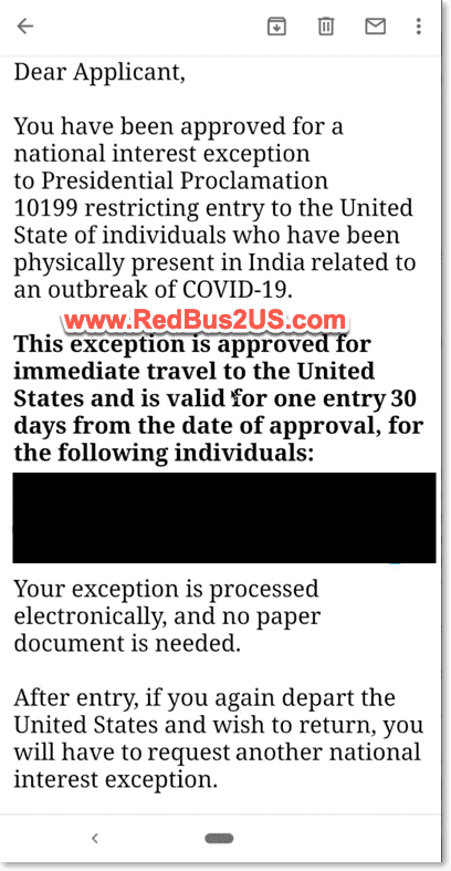 Email from Consulate with NIE Approval