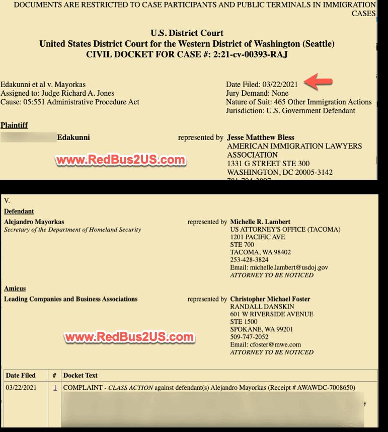US District Court H4 L2 Delays Lawsuit March 2022
