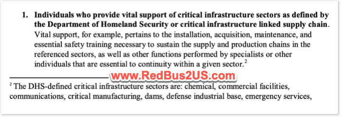Vital support for critical infrastucture Sectors by US Dept of State Guidance