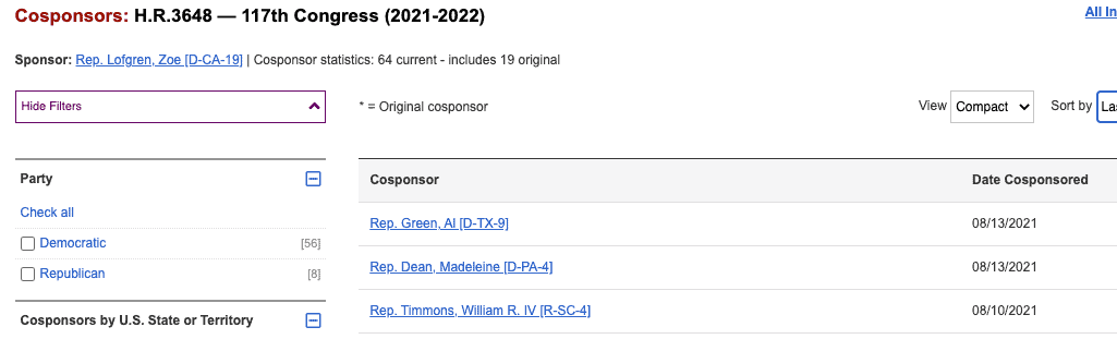 HR 3648 New Cosponsors Aug-18-2021