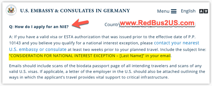 How do I apply for NIE in US Consulate Germany