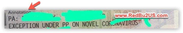 US Visa Stamping Annotation Exception under PP for Novel Coronavirus