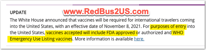 CDC Guidance on Vaccination Requirements